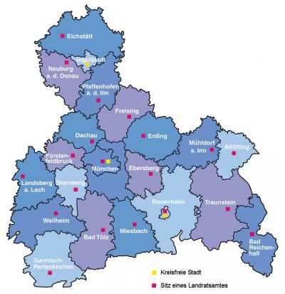 Landkreise - Kreisfreie Städte - Große Kreisstädte